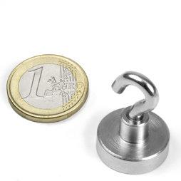FTN-20, Hook magnet, Ø 20 mm, Thread M4, strength approx. 13 kg