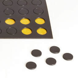 MS-TAKKI-04, Takkis round 10 mm, self-adhesive magnetic dots, 60 pieces per sheet