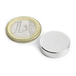 S-20-05-N, Disc magnet Ø 20 mm, height 5 mm, neodymium, N42, nickel-plated