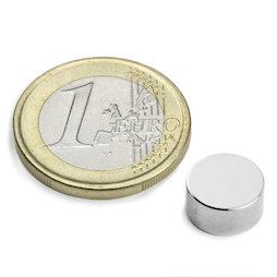 S-10-05-N, Disc magnet Ø 10 mm, height 5 mm, neodymium, N42, nickel-plated