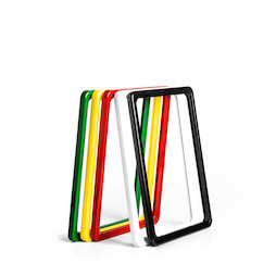 SF-FRM-A5, Sign frame A5, made of plastic, with rounded corners, u-pocket included