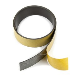 MT-30-STIC, Magnetic adhesive tape ferrite 30 mm, self-adhesive magnetic tape, rolls of 1 m / 5 m / 25 m
