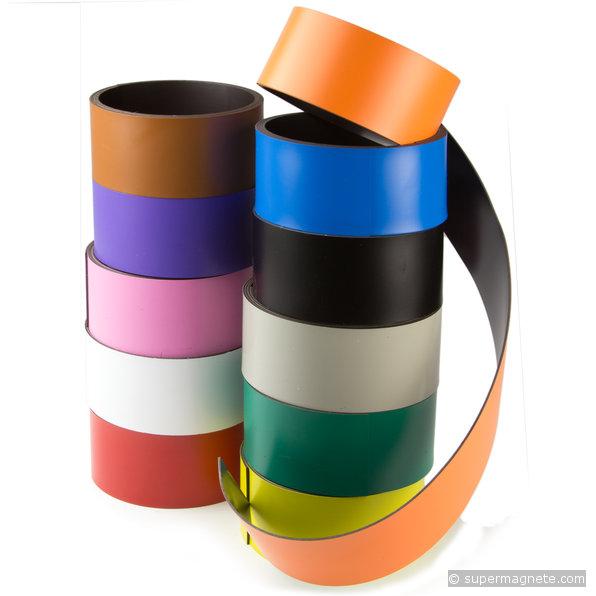 Magnetstreifen Magnetband Kennzeichnungsband farbig 5m Rolle Breite  40mm
